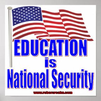 La educación es seguridad nacional poster