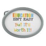 La educación lo vale hebillas cinturon