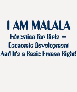 La educación para los chicas lleva al desarrollo playeras