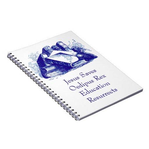 La educación resucita libro de apuntes con espiral
