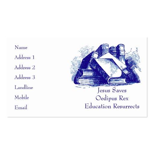 La educación resucita tarjetas de visita