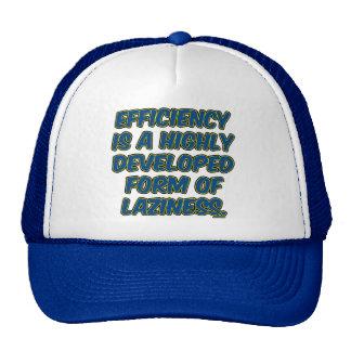 La eficacia es una forma altamente desarrollada de gorras de camionero