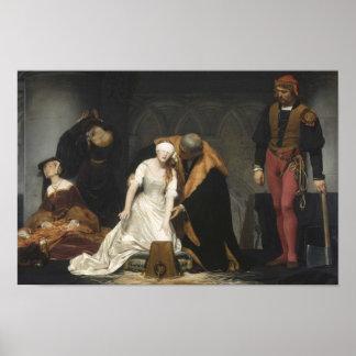 La ejecución de señora Jane Grey Póster