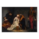 La ejecución de señora Jane Grey Tarjeton