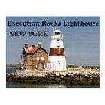 La ejecución oscila el faro, postal de Nueva York