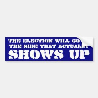 La elección irá al lado que aparece pegatina para auto