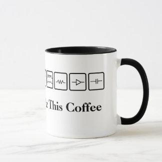 La electricidad hizo esta taza de café de los
