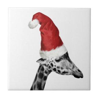 La elegancia de la jirafa del navidad teja
