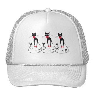 La elegancia del gato PERSONALIZA Gorros Bordados