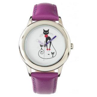 La elegancia del gato PERSONALIZA Relojes De Pulsera