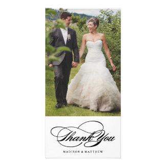 La elegancia el | que se casa le agradece tarjeta tarjetas fotograficas personalizadas