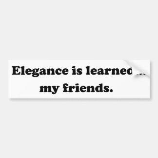 La elegancia es docta… Mis amigos Etiqueta De Parachoque
