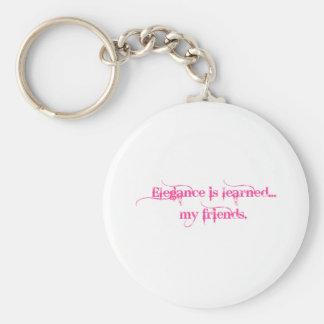 La elegancia es docta… Mis amigos Llavero Redondo Tipo Pin