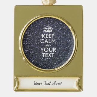 La elegancia negra guarda calma su texto rótulos de adorno dorado