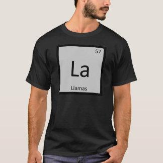 La - elemento de tabla periódica de la química de playera