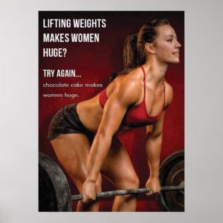¿La elevación de pesos hace a mujeres enormes Poster