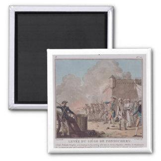 La elevación del cerco de Pondicherry, 1748, graba Imanes De Nevera