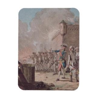 La elevación del cerco de Pondicherry, 1748, graba Iman De Vinilo