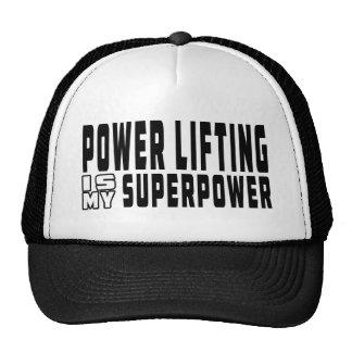 La elevación del poder es mi superpotencia gorros bordados