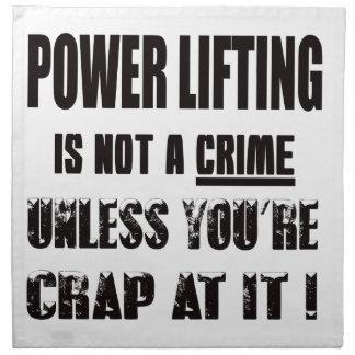 La elevación del poder no es un crimen servilleta imprimida