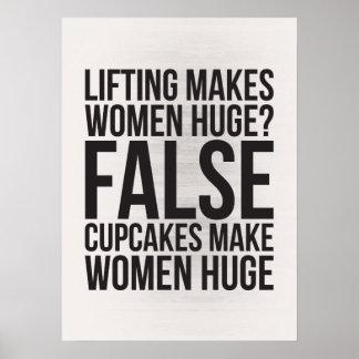 ¿La elevación hace a mujeres enormes Falso Las Impresiones