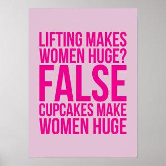 ¿La elevación hace a mujeres enormes Falso Las Poster