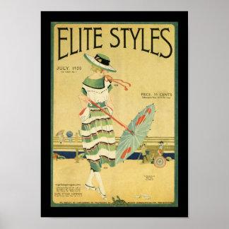 La élite diseña 1920 póster