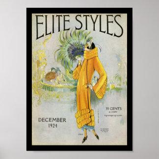La élite diseña 1924 póster