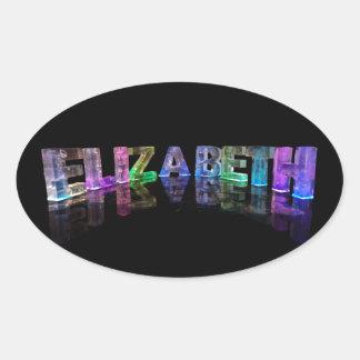 La Elizabeth conocida en 3D se enciende (la Pegatina Ovalada