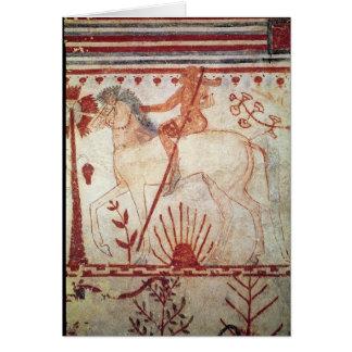 La emboscada del príncipe Trojan Troilus Tarjeta De Felicitación