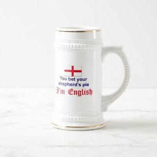 La empanada 2 del pastor inglés jarra de cerveza