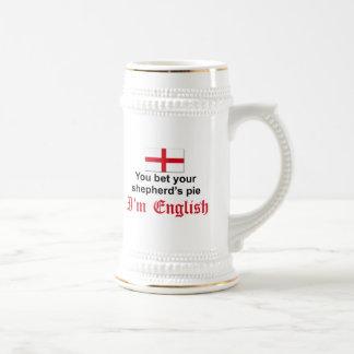 La empanada 3 del pastor inglés tazas de café