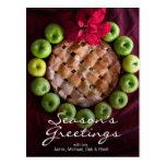 La empanada de Apple hecha para parecer navidad Tarjetas Postales