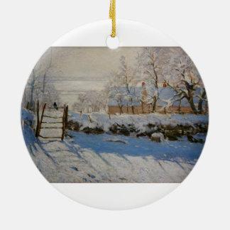 La empanada del La de la urraca de Claude Monet Ornamento De Reyes Magos