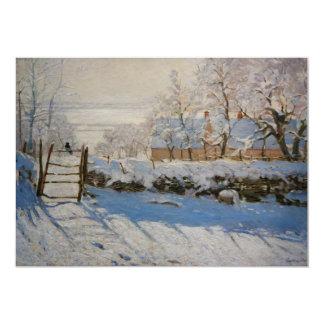 """La empanada del La de la urraca de Claude Monet Invitación 5"""" X 7"""""""