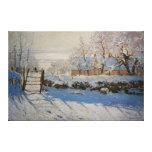 La empanada del La de la urraca de Claude Monet Impresión En Lona Estirada