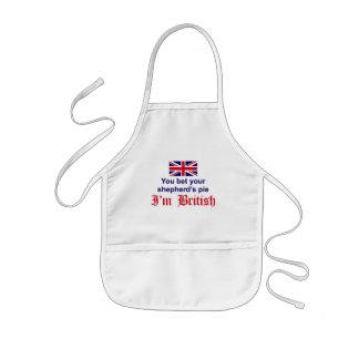 La empanada del pastor británico delantal infantil