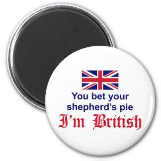 La empanada del pastor británico imán redondo 5 cm