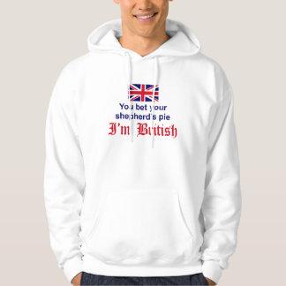 La empanada del pastor británico sudadera encapuchada