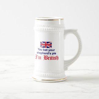 La empanada del pastor británico tazas de café