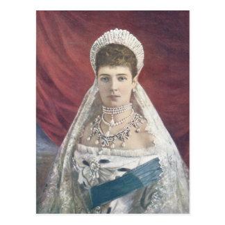 La emperatriz de la viuda de Rusia Tarjeta Postal