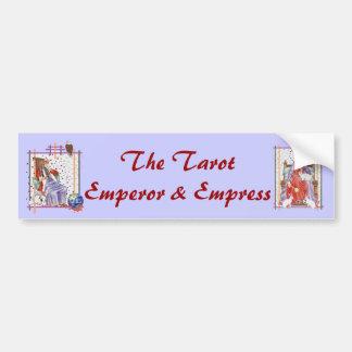 La emperatriz de Tarot Etiqueta De Parachoque