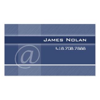 La empresa informática carda ángulo abstracto azul tarjetas de visita