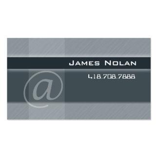 La empresa informática carda ángulo abstracto gris tarjeta de visita