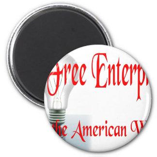 La empresa libre imán redondo 5 cm