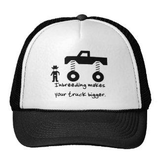 La endogamia hace su camión más grande gorras de camionero