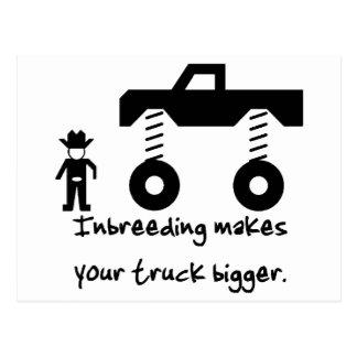 La endogamia hace su camión más grande tarjetas postales