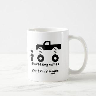 La endogamia hace su camión más grande taza