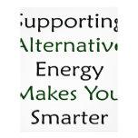 La energía alternativa favorable le hace más elega flyer a todo color