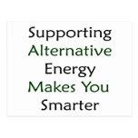 La energía alternativa favorable le hace más elega tarjetas postales